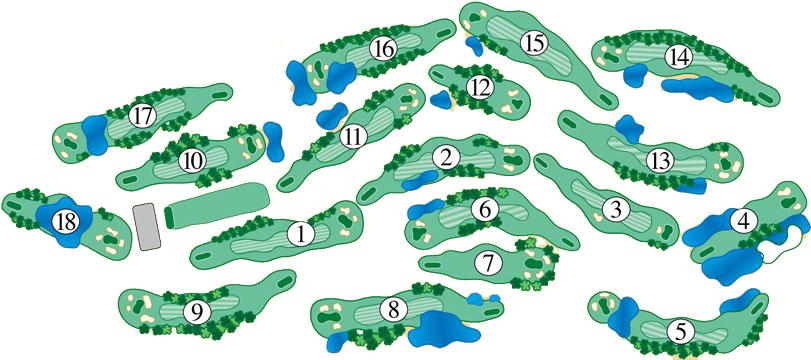Eagle Nest golf course layout